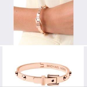 Michael Kors Astor buckle bracelet rose gold